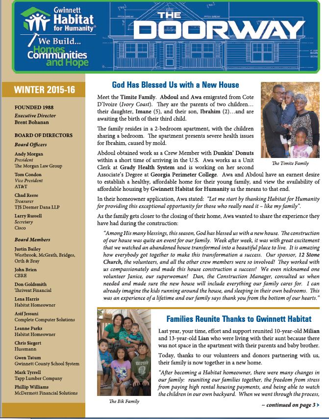 GHFH - Newsletter - Winter2015